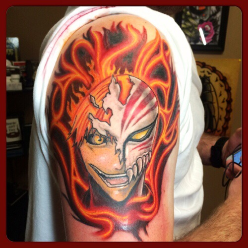 Bleach Demon michigan color tattoo
