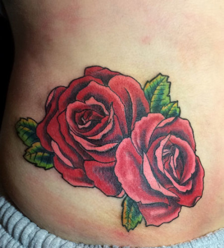 Roses michigan color tattoo
