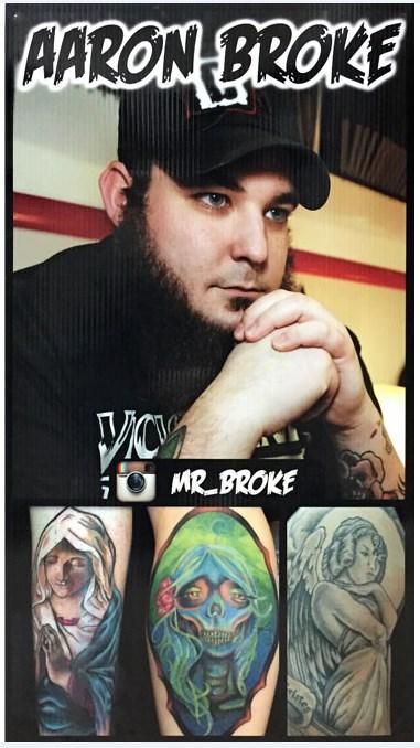 aaron broke tattoo artist